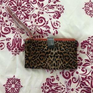 Olivia Harris Leopard Wristlet